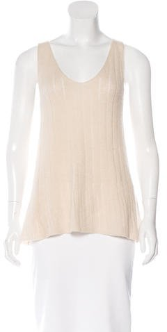 Donna Karan Sleeveless Cashmere Top