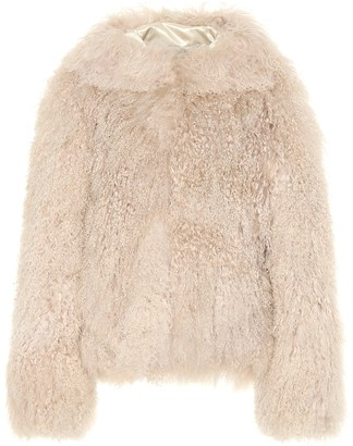 Alaia Hooded shearling coat