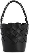 Prada Woven Leather Bucket Bag