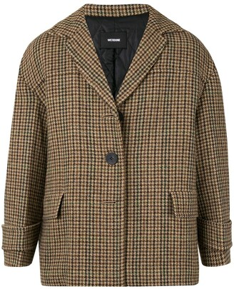 we11done Short Houndstooth Coat