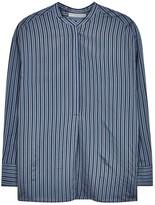 Vince Blue Striped Silk Tunic