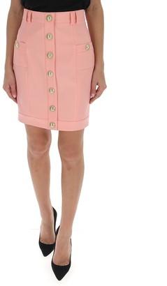 Balmain Buttoned A-Line Skirt