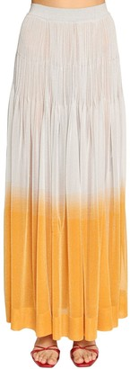 Missoni Ruffled Lame Knit Maxi Skirt