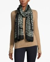 MICHAEL Michael Kors Cheetah-Print Oblong Wrap & Scarf in One
