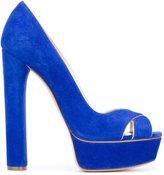 Casadei platform sandals - women - Chamois Leather/Leather/Kid Leather - 35.5