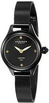 Akribos XXIV Women's AK873BK Round Black Watch With Mesh Bracelet