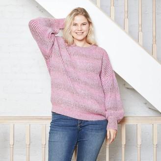 Universal Thread Women's Crewneck Spacedye Pullover Sweater - Universal ThreadTM