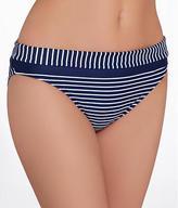 Panache Britt Stripe Fold-Over Bikini Swim Bottom