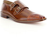 Belvedere Men's Amico Double Monk Strap Ostrich and Calfskin Dress Shoes
