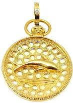 Temple St Clair 18K Yellow Gold Diamond Moonstone Aqua Dolphin Pendant