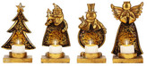 Mark Roberts X-Mas Theme Candle Holders - Set of 4