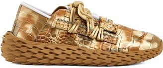 Giuseppe Zanotti Urchin crocodile-effect leather sneakers