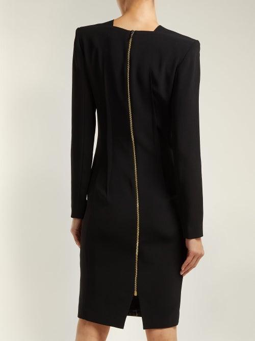 Thumbnail for your product : Roland Mouret Jalore Leopard-print Cady Dress - Black Multi