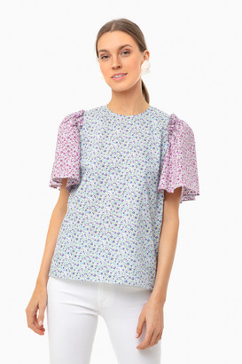 ENGLISH FACTORY Multi Floral Sleeve Mollie Blouse