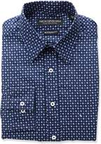 Nick Graham Men's Diamond Geo Dot Print Dress Shirt