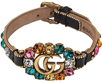 Gucci Leather bracelet with Double G