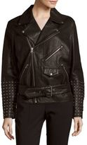 McQ by Alexander McQueen Leather Long-Sleeve Jacket