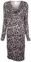 Fuzzi leopard jersey dress