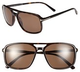 Tom Ford Women's 'Terry' 58Mm Sunglasses - Shiny Black/ Green Lenses