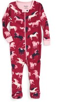 Hatley Infant Girl's Fairy Tale Horses Fitted One-Piece Pajamas