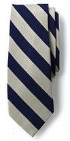Classic Men's Long Wide Stripe Necktie-Dark Sapphire/Burgundy