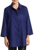 Caroline Rose Boyfriend Oversized Button-Down Shirt