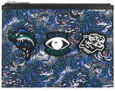 Kenzo multi icon print clutch - men - Leather/Polyamide/rubber - One Size