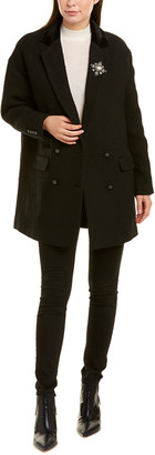 The Kooples Ruby Wool-Blend Coat
