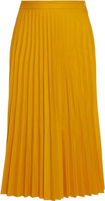 MM6 MAISON MARGIELA Pleated Coated Stretch-jersey Midi Skirt