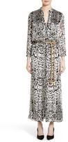 ADAM by Adam Lippes Women's Ocelot Print Velvet Jacquard Dress