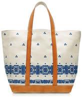 Vanessa Bruno Embroidered Linen Tote