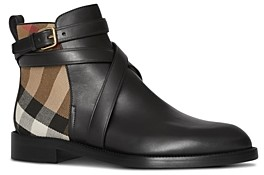 Burberry Women's House Check Ankle Booties