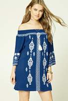 Forever 21 Embroidered Shift Dress