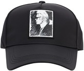 Karl Lagerfeld Paris LEGEND PRINTED NYLON BASEBALL HAT