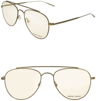 Tomas Maier 54mm Metal Frame Aviator Optical Frames