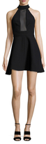 KENDALL + KYLIE Mesh Inset Fit And Flare Dress