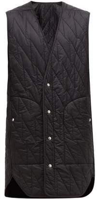 Rick Owens Long-line Quilted Shell Gilet - Mens - Black