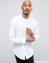 Selected Long Sleeve Slim Grandad Shirt
