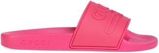 Gucci Children's logo rubber slide sandal