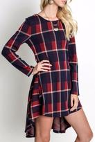 Umgee USA Burgundy Plaid Tunic