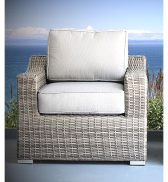 Bronx Laurene Club Patio Chair with Cushions Ivy Frame Color: Gray