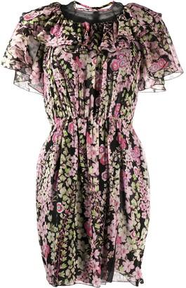 Giambattista Valli Floral Print Mini Dress