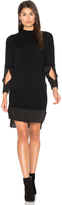 Halston Mock Neck Sweater Dress