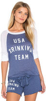 Wildfox Couture USA Drinking Team Top