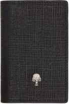 Alexander McQueen Black and Gunmetal Skull Pocket Organizer