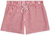 River Island Mens Red stripe print slim fit swim shorts
