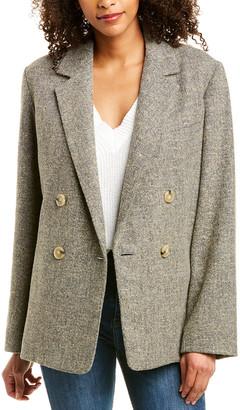 Vince Pebble Textured Wool-Blend Jacket