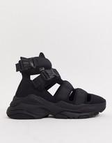 Asos Design ASOS DESIGN trainer sandals in black