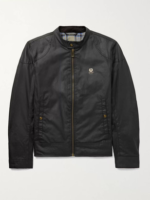 Belstaff Kelland Logo-Appliqued Waxed-Cotton Jacket
