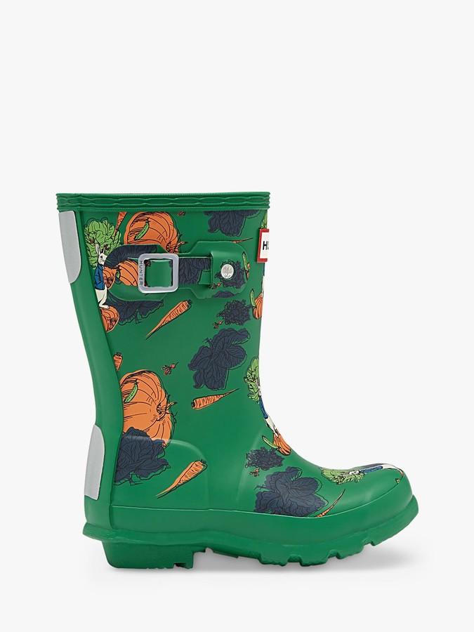 Hunter x Peter Rabbit 2 Children's Original Waterproof Wellington Boots, Dark Green
